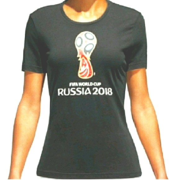 NWT Official Adidas FIFA Russia World Cup Tee NEW